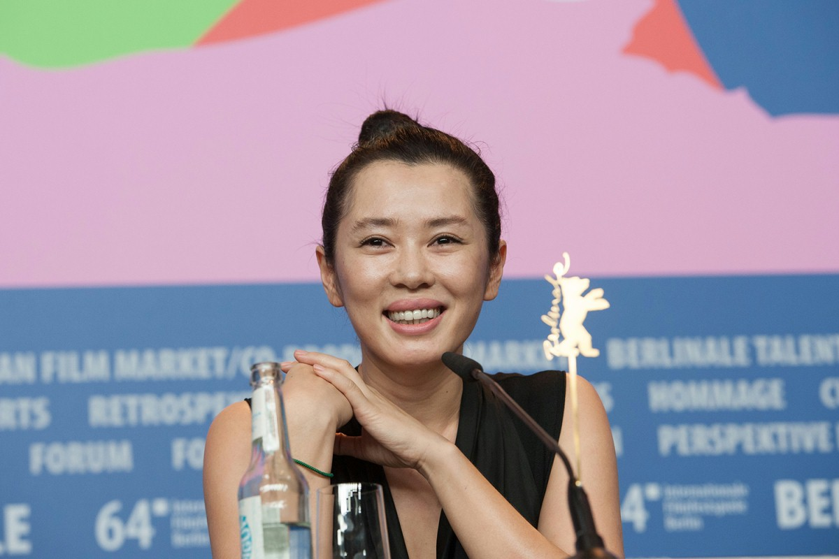 Yu Nan   The actress at the Press Conference.     Competition  –   Wu Ren Qu  | No Man's Land     Feb 13, 2014