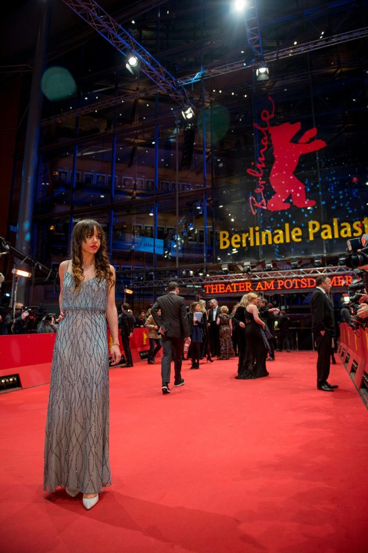 Lorelei Linklater    The actress on the Red Carpet.     Competition  –   Boyhood      Feb 13, 2014