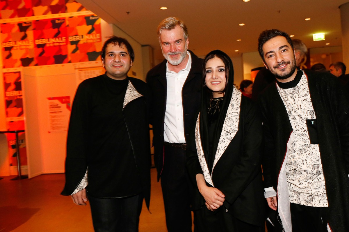 Reza Dormishian, Wieland Speck, Baran Kosari, Navid Mohammadzadeh   The director of the Iranian film with the section head and his two main actors.     Panorama  –   Asabani Nistam!  | I'm not Angry     Feb 13, 2014