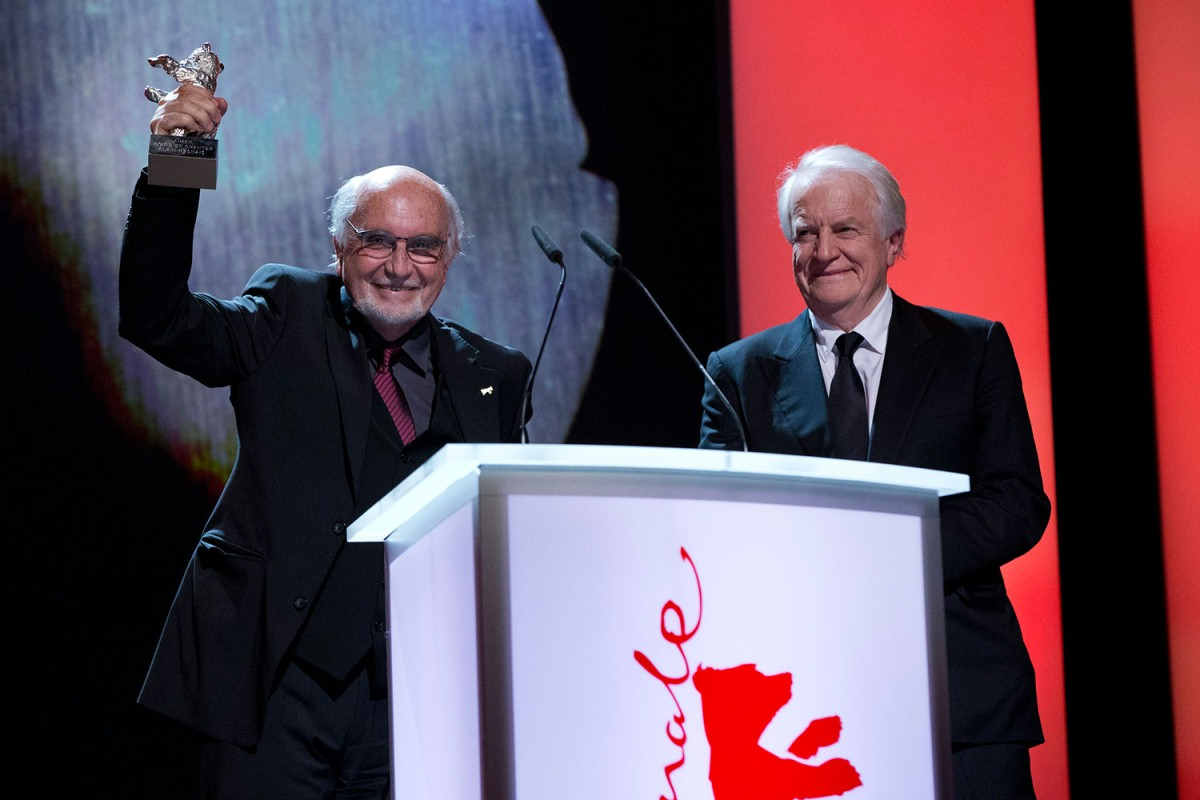 Jean-Louis Livi, André Dussollier   They accepted the prize on behalf of the director Alain Resnais.     Competition  –   Aimer, boire et chanter  | Life of Riley  – Silver Bear    Feb 15, 2014