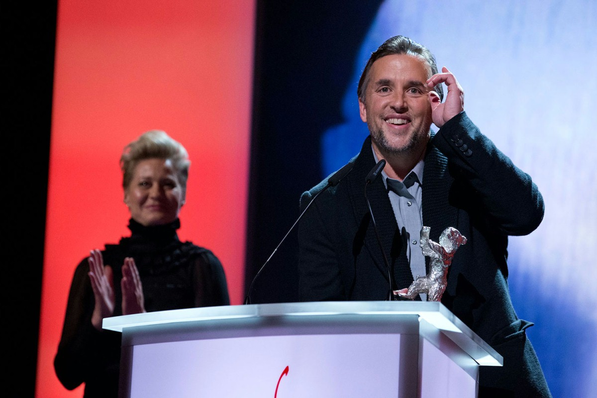 Richard Linklater   The winner of the Silver Bear for Best Director. In the background jury member Trine Dyrholm.     Competition  –   Boyhood   – Silver Bear    Feb 15, 2014