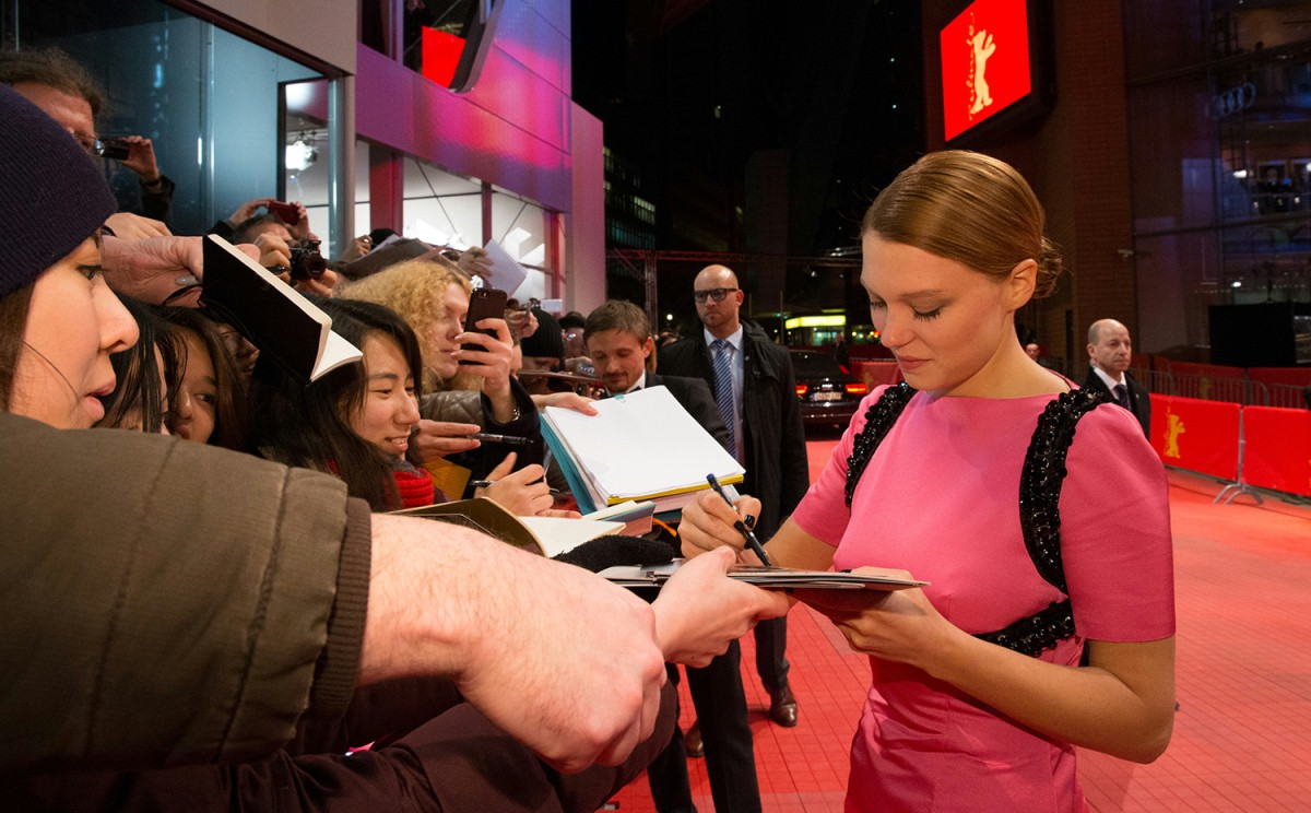 Léa Seydoux   The actress plays also a role in the opening film.     Competition  –   The Grand Budapest Hotel  | Grand Budapest Hotel  – Opening Gala    Feb 6, 2014