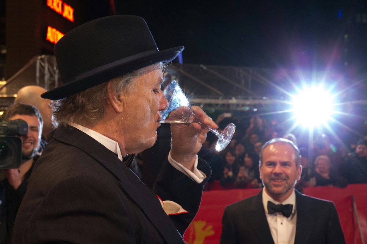 Bill Murray   The actor allowed himself a bevvy before he entered the Red Carpet.     Competition  –   The Grand Budapest Hotel  | Grand Budapest Hotel  – Opening Gala    Feb 6, 2014