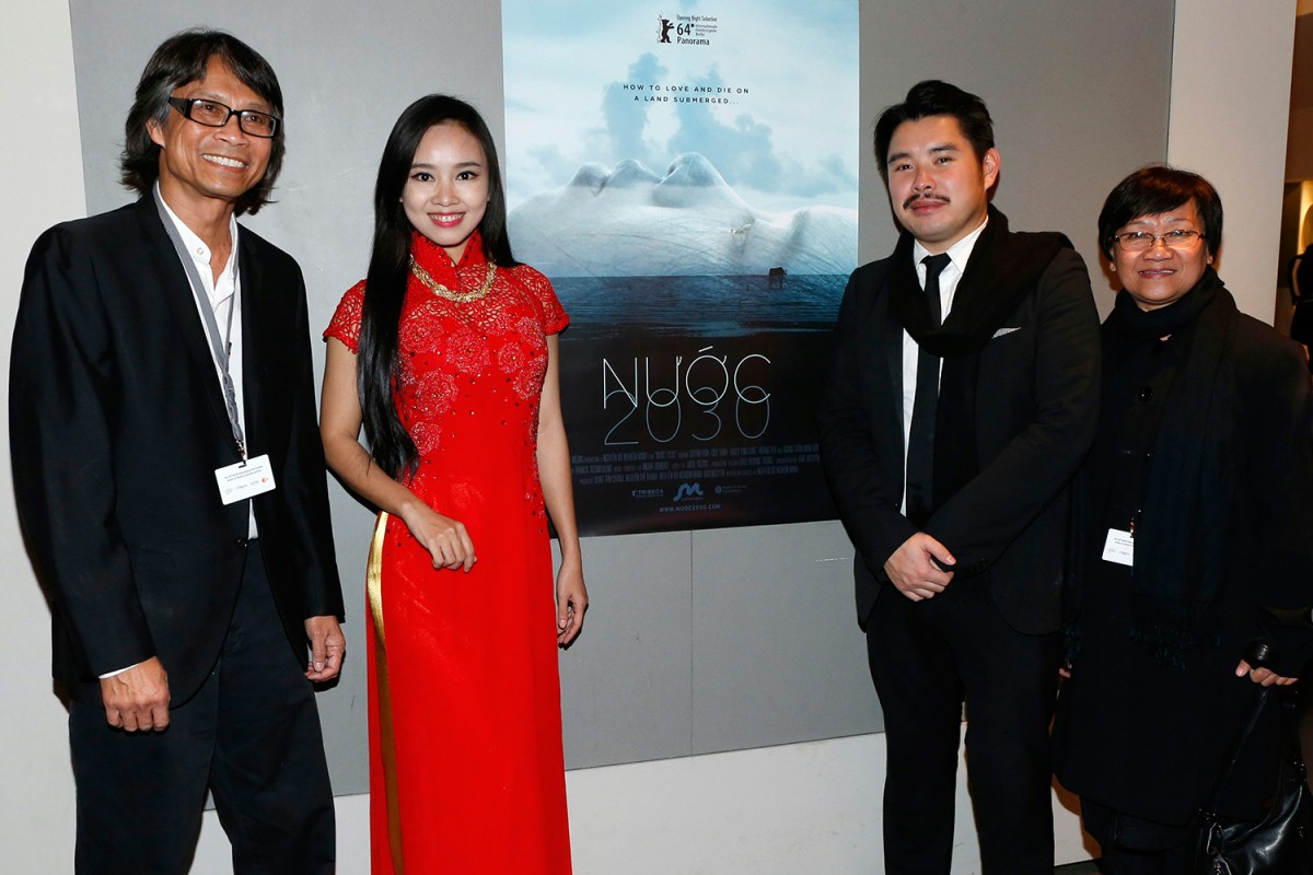 Nguyễn-Võ Nghiêm-Minh, Quýnh Hoa, Bao Nguyen, Nguyễn Thế Thanh   The director, the actress, the executive producer and the producer of the Vietnamese film.     Panorama  –   Nước  | 2030     Feb 6, 2014