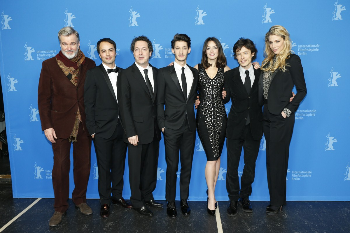 Wieland Speck, Nikolai Kinski, Guillaume Gallienne, Pierre Niney, Charlotte Le Bon, Xavier Lafitte, Marie De Villepin   The section head and the film crew.     Panorama  –   Yves Saint Laurent      Feb 7, 2014