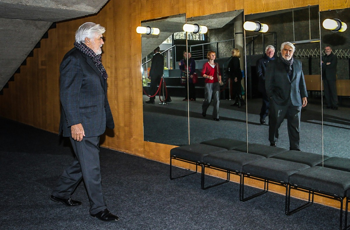 Mario Adorf   The actor in the Haus der Berliner Festspiele.     Berlinale Special  –   Baal      Feb 7, 2014