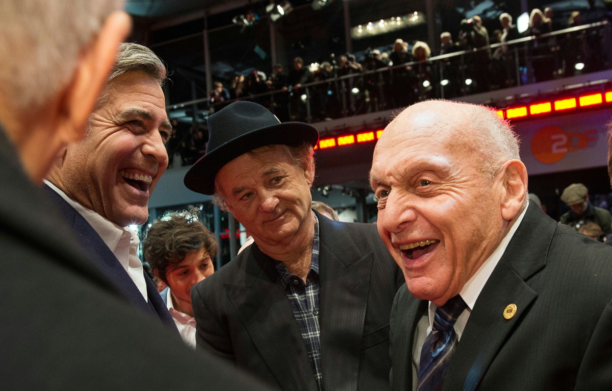 George Clooney, Bill Murray, Harry Ettlinger   The two Hollywood icons with the last living of the historical Monuments Men.     Competition  –   The Monuments Men  | Monuments Men – Ungewöhnliche Helden     Feb 8, 2014