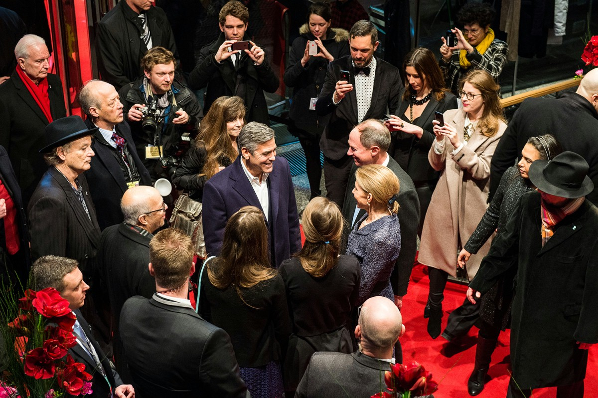 George Clooney   In the crowd.     Competition  –   The Monuments Men  | Monuments Men – Ungewöhnliche Helden     Feb 8, 2014