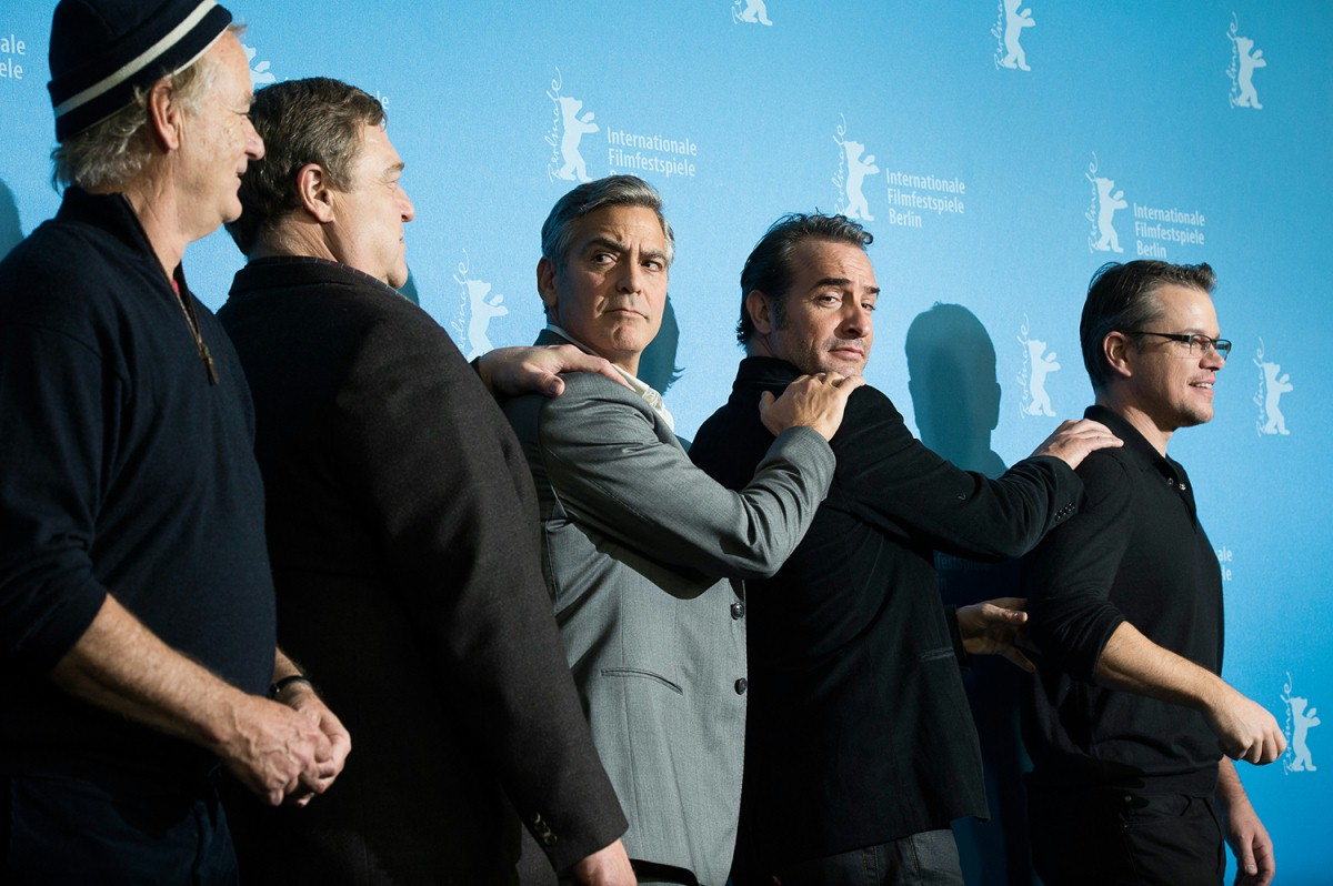 Bill Murray, John Goodman, George Clooney, Jean Dujardin, Matt Damon   Are you with me?     Competition  –   The Monuments Men  | Monuments Men – Ungewöhnliche Helden     Feb 8, 2014
