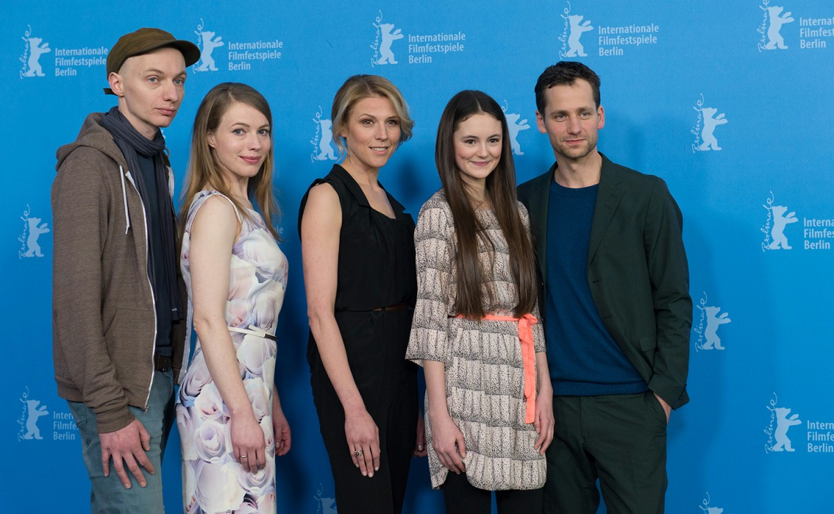 Dietrich Brüggemann, Anna Brüggemann, Franziska Weisz, Lea van Acken, Florian Stetter   The crew at the Photo Call.     Competition  –   Kreuzweg  | Stations of the Cross     Feb 9, 2014