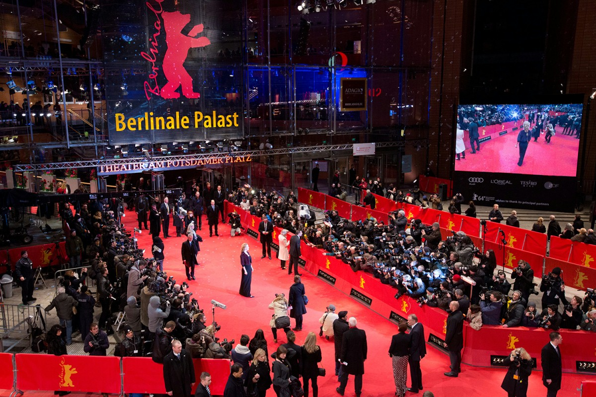 Red Carpet   The Marlene-Dietrich-Platz at the evening of the premiere.     Competition  –   Nymphomaniac Volume I (long version)      Feb 9, 2014