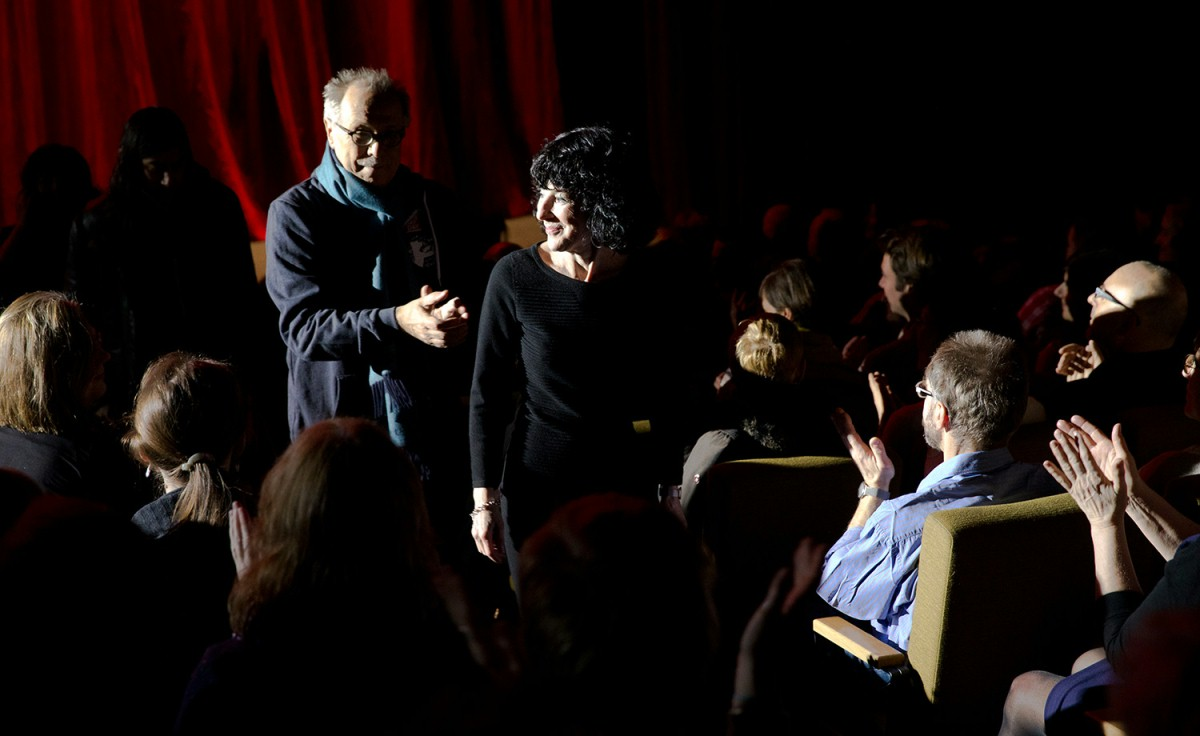 Dieter Kosslick, Nancy Buirski   The Festival Director leading the director to her seat in the Haus der Berliner Festspiele.     Berlinale Special  –   Afternoon of a Faun: Tanaquil Le Clercq      Feb 9, 2014