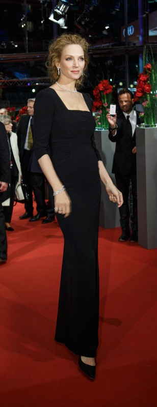 Uma Thurman   The actress at the premiere.     Competition  –   Nymphomaniac Volume I (long version)      Feb 9, 2014