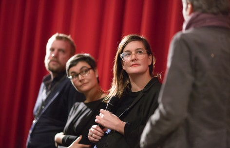Feb 6, 2015Tobias Zielony, Judith Berges, Janina Herhoffer  The team of the German film during Q&A. Forum – Freie Zeiten | After Work