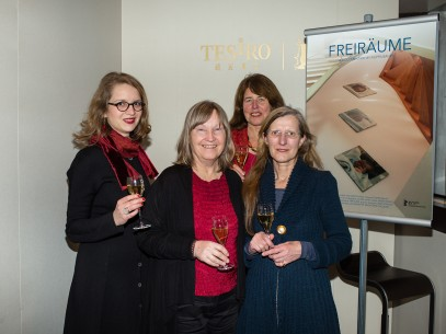 Feb 10, 2015Filippa Bauer, Sylvia Treder, Marliese Sobotta, Rosemarie Siep  The director with the protagonists. Perspektive Deutsches Kino – Freiräume | Unoccupied