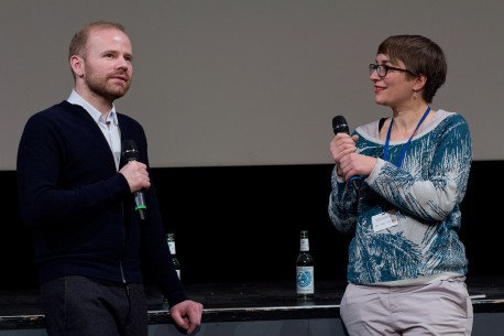 Feb 11, 2015Nicolas Cilins, Nanna Heidenreich  The director and the moderator during Q&A. Forum Expanded – Gineva