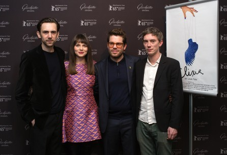Feb 12, 2015Sebastian Pawlak, Natasha Petrovikj, Brodie Higgs, Swann Arlaud  The team before the premiere. Perspektive Deutsches Kino – Elixir