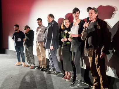 Feb 12, 2016Group photo  The team on the stage. Perspektive Deutsches Kino – Research Refugees: Meinungsaustausch | Research Refugees: Duologue