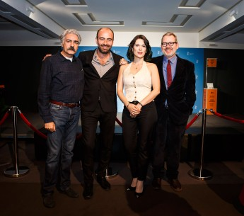 Feb 15, 2016Kayhan Kalhor, Kinan Azmeh, Cristina Pato, Morgan Neville  The director on the right with three of his musicians.  Berlinale Special – The Music of Strangers: Yo-Yo Ma and the Silk Road Ensemble