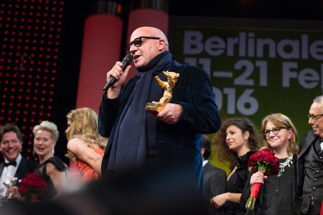 Feb 20, 2016Gianfranco Rosi   The director with his Golden Bear.  Competition – Fuocoammare | Fire at Sea – Golden Bear