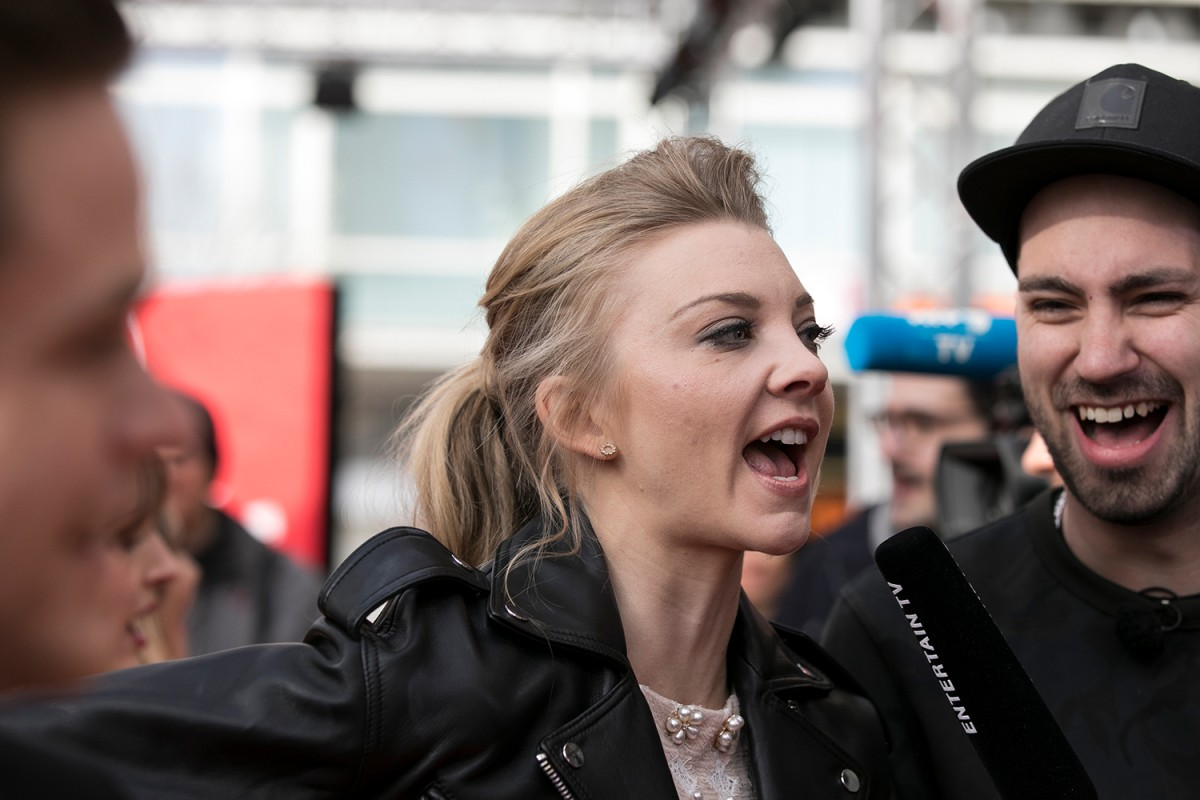 Natalie Dormer   Die Schauspielerin beim Interview am Roten Teppich.     Berlinale Series  –   Picnic at Hanging Rock      19. Februar 2018