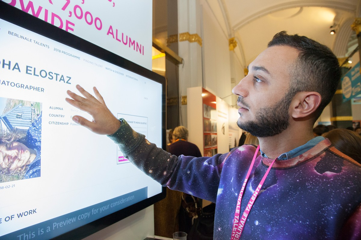 "Abu Hamdan Zaid   Das Talent beim ""Berlinale Talents Market Hub"".     Berlinale Talents     21. Februar 2018"