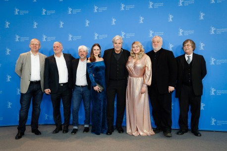23.2.2018Filmteam  Beim Photo-Call. Berlinale Special – The Interpreter | Dolmetscher
