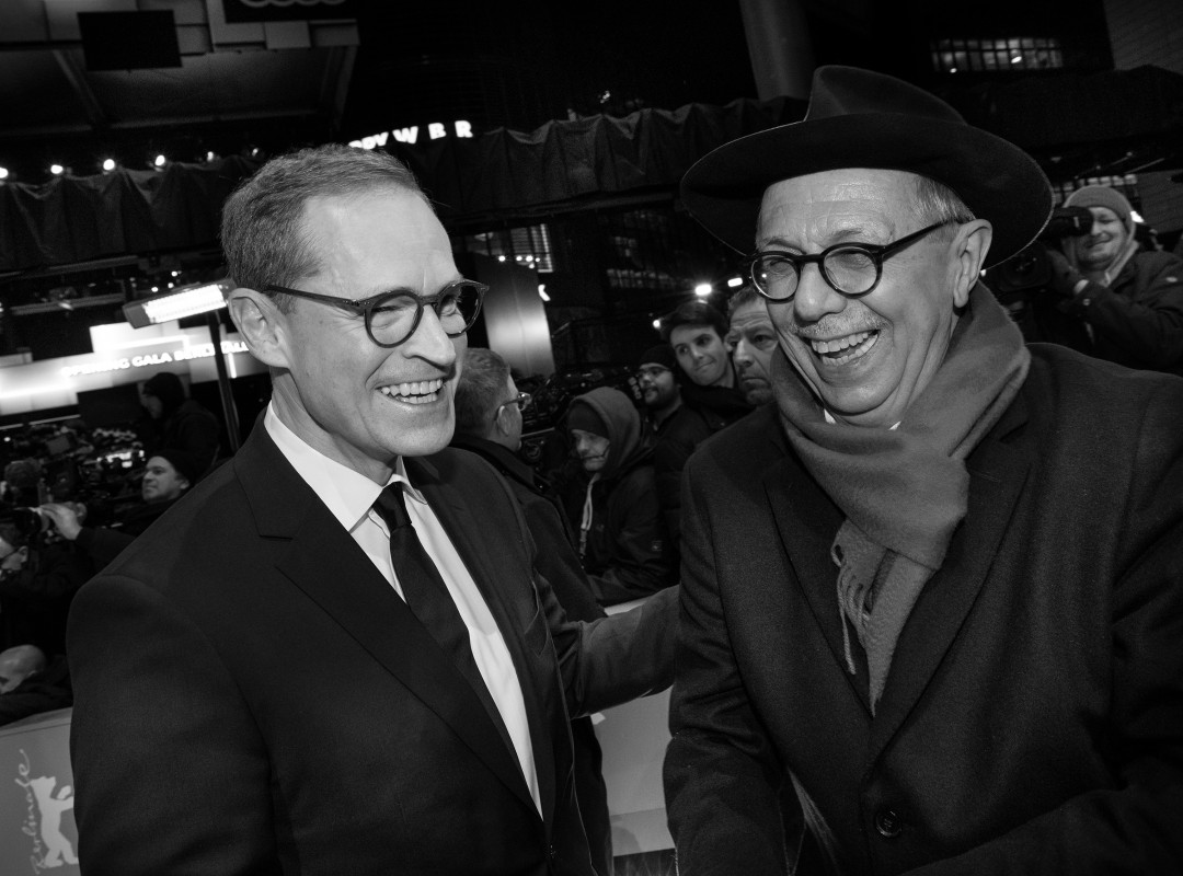 Michael Müller, Dieter Kosslick   Governing Mayor of Berlin Michael Müller with Festival Director Dieter Kosslick at the Opening Gala in front of the Berlinale Palast.    Opening Gala    Feb 7, 2019
