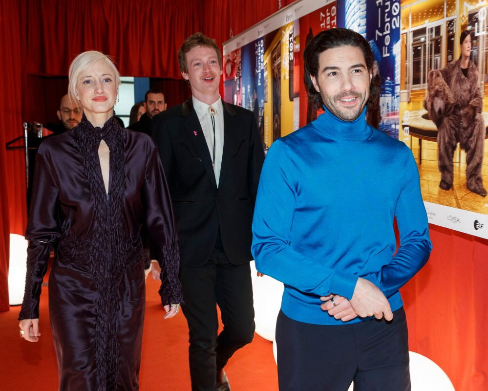 Andrea Riseborough, Caleb Landry Jones, Tahar Rahim   The actors on their way into the Berlinale VIP Club.     Competition  –   The Kindness of Strangers      Feb 7, 2019