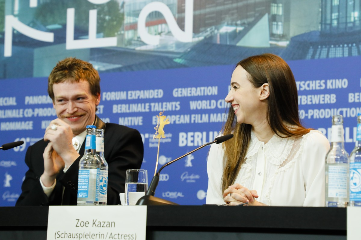 Caleb Landry Jones, Zoe Kazan   The actors at the Press Conference.     Competition  –   The Kindness of Strangers      Feb 7, 2019