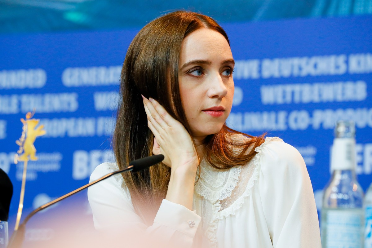 Zoe Kazan   The actress at the Press Conference.     Competition  –   The Kindness of Strangers      Feb 7, 2019