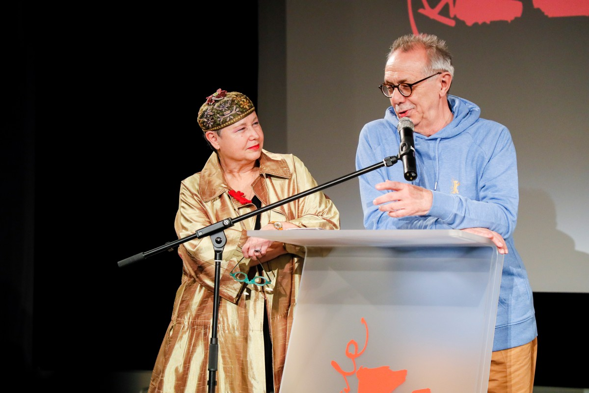 Sandra Schulberg, Dieter Kosslick   The laureate and the Festival Director at the award ceremony.    Berlinale Camera    Feb 8, 2019