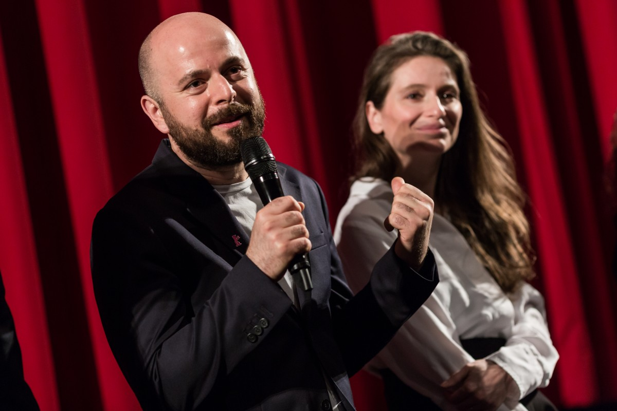 Marius Olteanu, Judith State   The director and the leading actress of the Romanian film.     Forum  –   Monștri.  | Monsters.     Feb 9, 2019