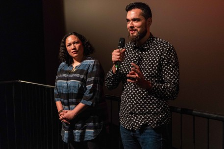 9.2.2019Awatea Mita, Hepi Mita  Die Protagonistin und der Regisseur während des Q&A. NATIVe – Merata: How Mum Decolonised the Screen