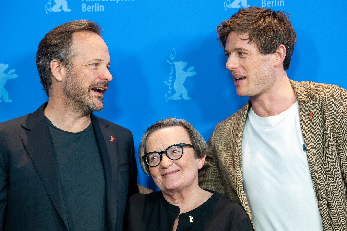 Peter Sarsgaard, Agnieszka Holland, James Norton   The director and her actors at the Photo Call.     Competition  –   Mr. Jones      Feb 10, 2019