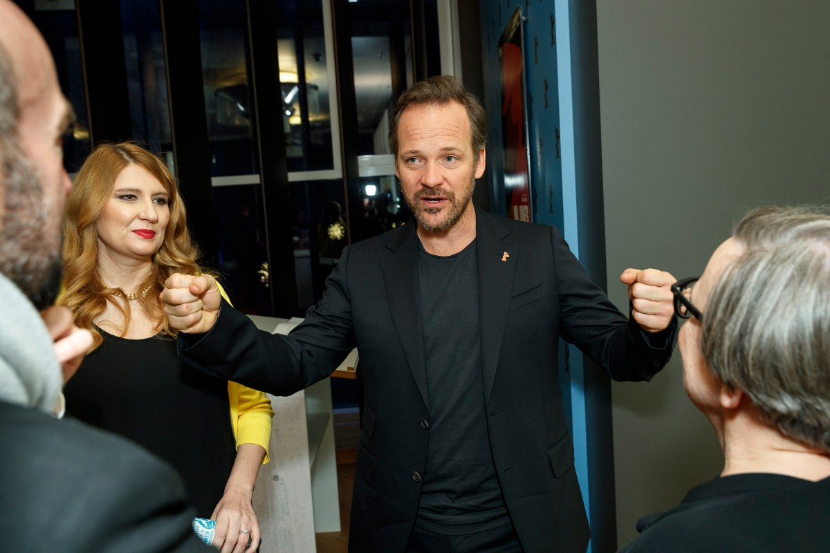 Andrea Chalupa, Peter Sarsgaard   The screenwriter and the actor in the Berlinale VIP Club.     Competition  –   Mr. Jones      Feb 10, 2019