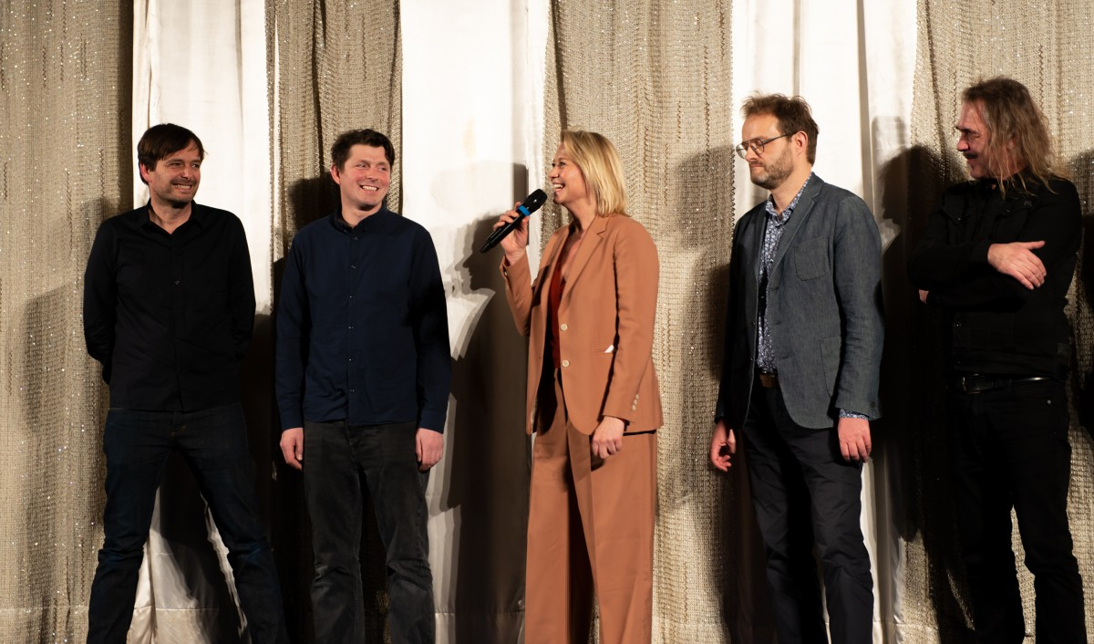 Ulrich Köhler, Trine Dyrholm   The director (at the left) and the actress (third from the left) with further members of the team.      Bungalow   –  Panorama  40    Feb 10, 2019