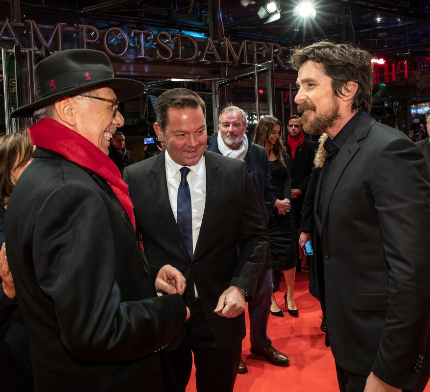 Dieter Kosslick, Christian Bale    The Festival Director cheerful on the Red Carpet with the actor.     Competition  –   Vice  | Vice – Der zweite Mann     Feb 11, 2019