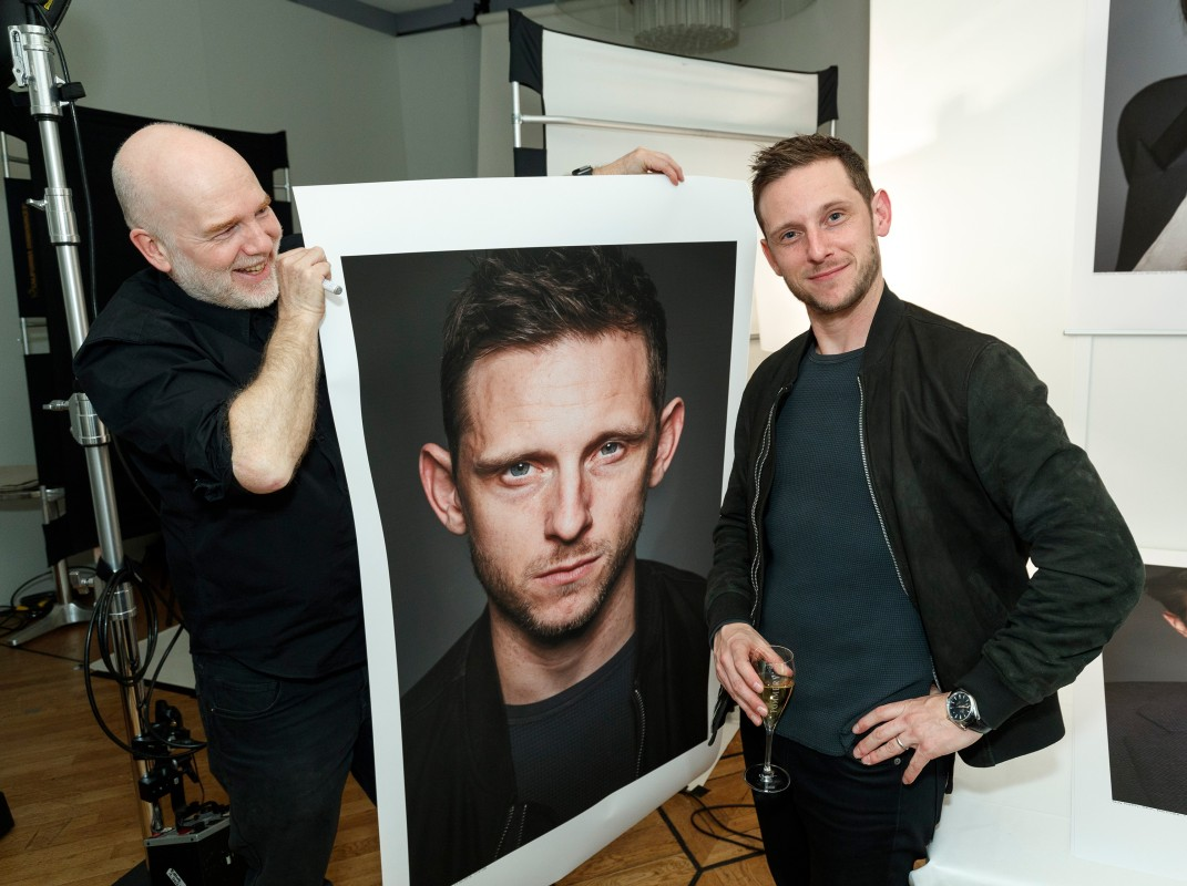 Gerhard Kassner, Jamie Bell   The photographer with the actor.     Panorama  –   Skin      Feb 11, 2019