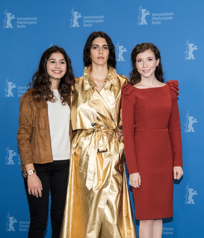 Helin Kandemir, Cemre Ebüzziya, Ece Yüksel   The actresses at the Photo Call.     Competition  –   Kız Kardeşler  | A Tale of Three Sisters     Feb 11, 2019