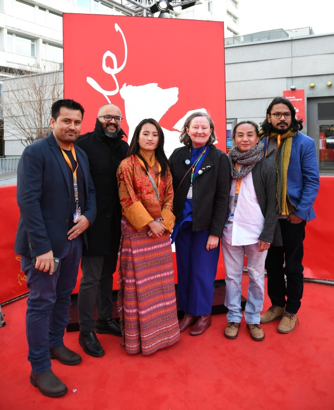 Film team   The producers Krishna Pokharel and Fidel Devkota, the protagonist Tshering Euden, the section head Maryanne Redpath, the director Tashi Gyeltshen and the cutter Saman Alvitigala.     Generation  –   The Red Phallus      Feb 11, 2019