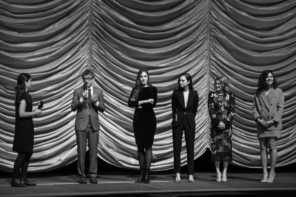 David Farr, Sarah Adina Smith, Esmé Creed-Miles, Mireille Enos, Rhianne Barreto   The film team at the premiere.     Berlinale Series  –   Hanna      Feb 11, 2019