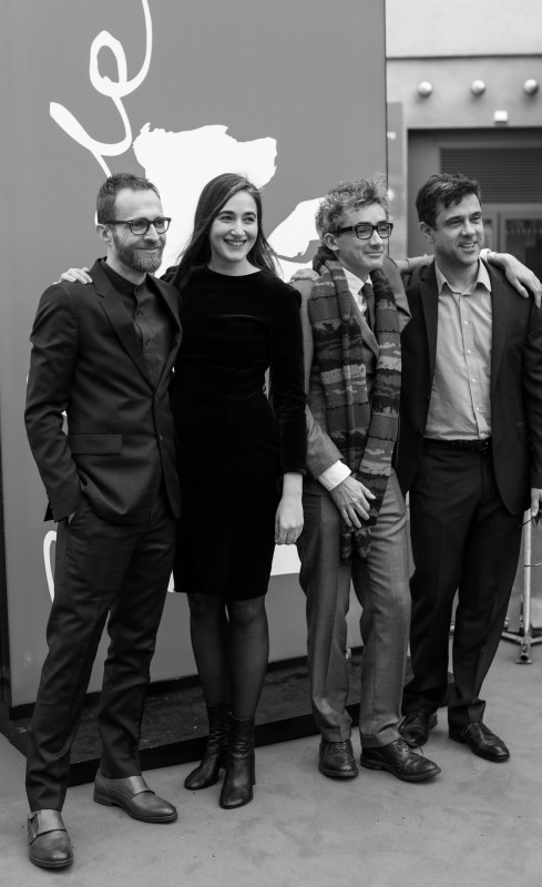 Tom Coan, Sarah Adina Smith, David Farr, Andrew Woodhead   The producers with the screenwriter (second from right) and the director (second from left)     Berlinale Series  –   Hanna      Feb 11, 2019