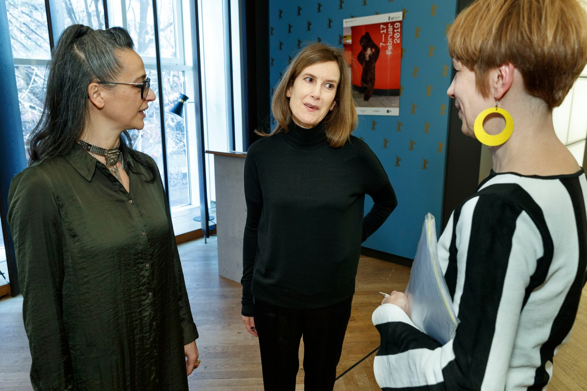 Paz Lázaro, Joanna Hogg   The section head and the director in the Berlinale VIP Club.     Panorama  –   The Souvenir      Feb 12, 2019