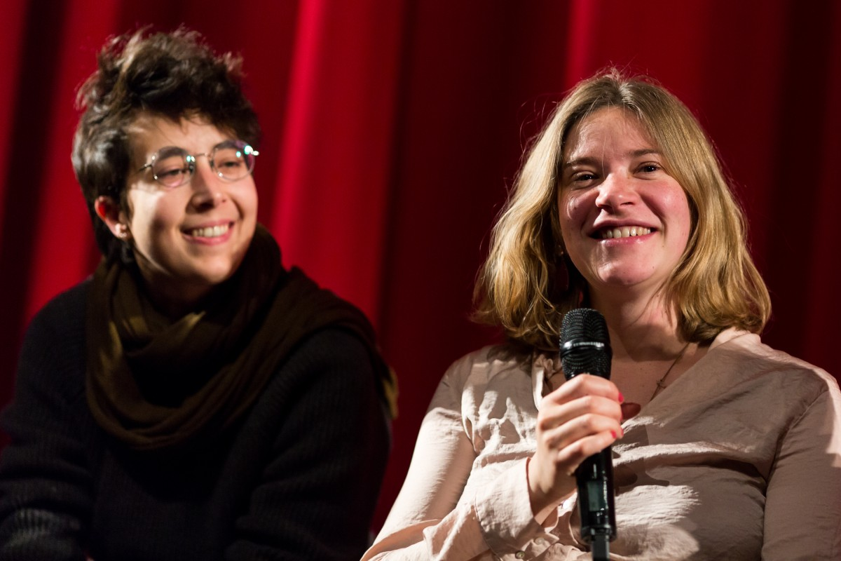 Cecilia Trautvetter, Sara Summa   The producer and the director during Q&A.     Forum  –   Gli ultimi a vederli vivere  | The Last to See Them     Feb 12, 2019
