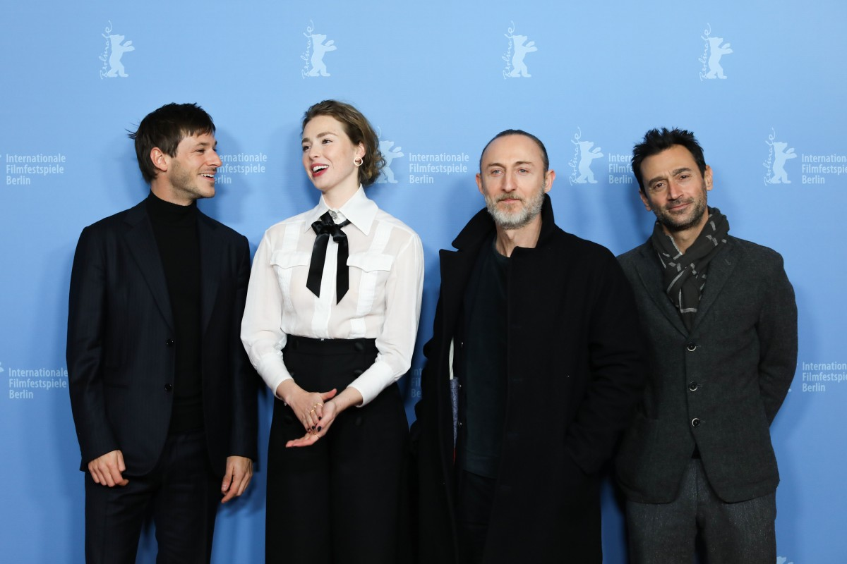 Gaspard Ulliel, Freya Mavor, Guillaume Nicloux, Bruno Nahon   The two protagonists with the director and the producer.     Berlinale Series  –   Il était une seconde fois  | Twice Upon a Time     Feb 12, 2019