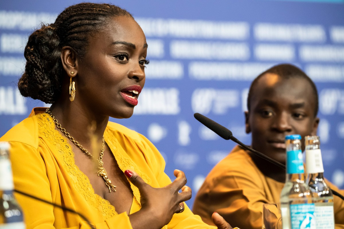 Aïssa Maïga, Maxwell Simba   The actors at the Press Conference.     Berlinale Special  –   The Boy Who Harnessed the Wind      Feb 12, 2019