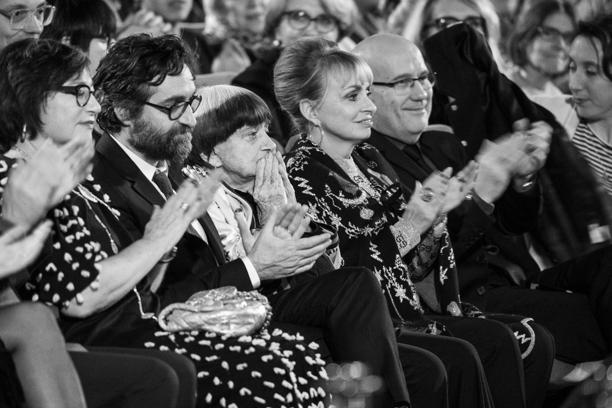 Agnès Varda   The laureate in the Berlinale Palast.     Competition  –   Varda par Agnès  | Varda by Agnès  – Berlinale Camera    Feb 13, 2019