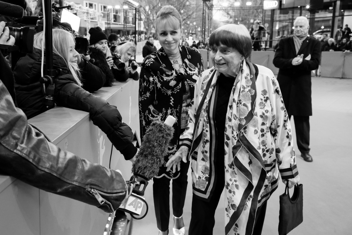 Rosalie Varda, Agnès Varda    The producer and the director on the Red Carpet at the Berlinale Palast.     Competition  –   Varda par Agnès  | Varda by Agnès     Feb 13, 2019