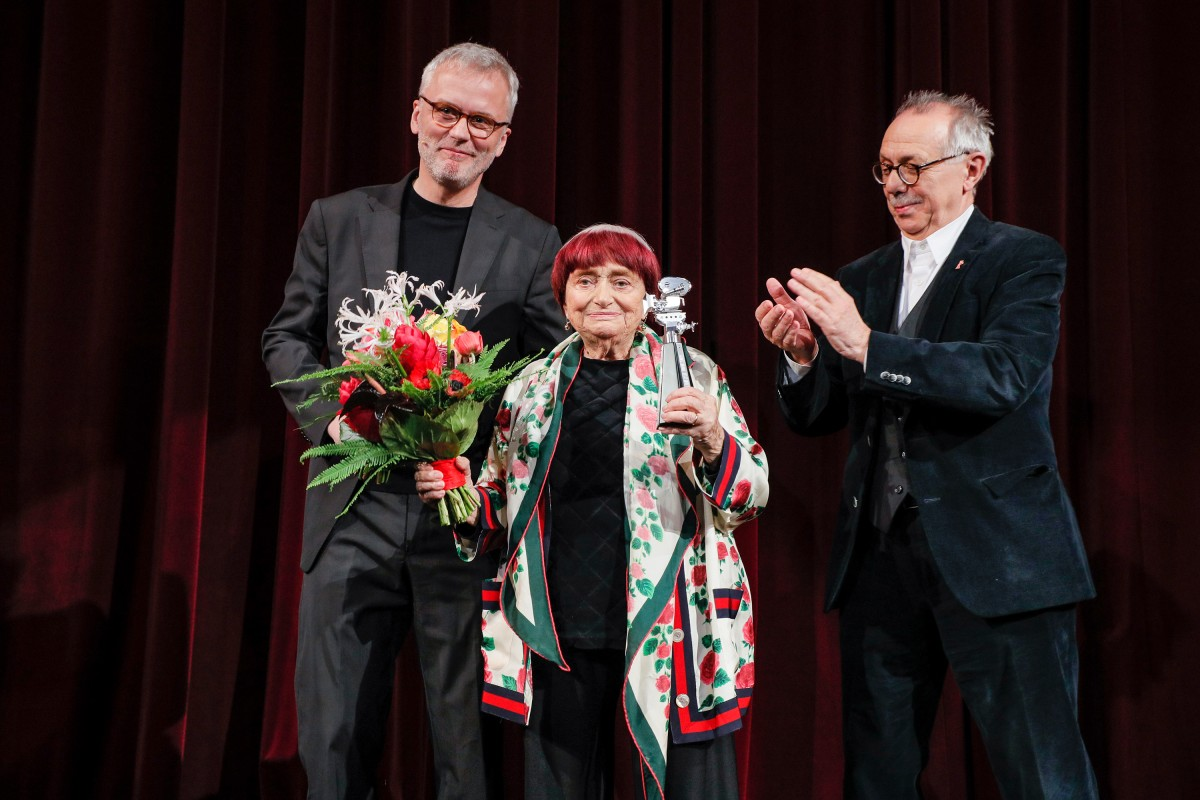 Christoph Terhechte, Agnès Varda, Dieter Kosslick   The laureate with the laudator and the Festival Director.     Competition  –   Varda par Agnès  | Varda by Agnès  – Berlinale Camera    Feb 13, 2019